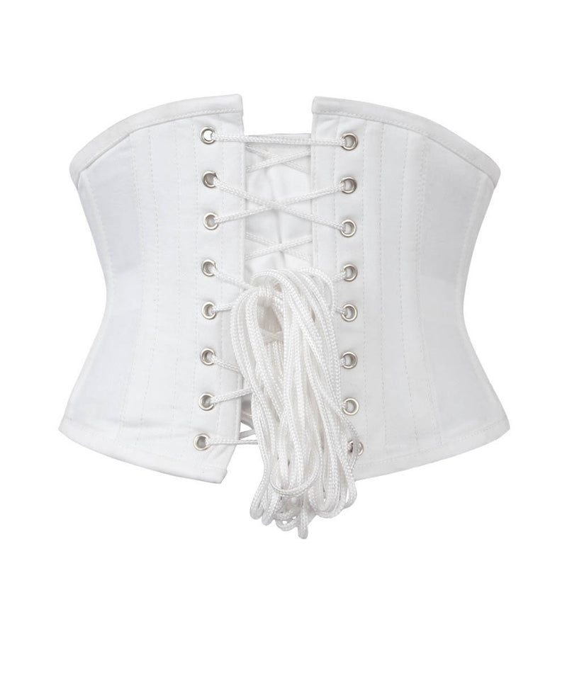 Waist Shaper White Corset in 100% Cotton