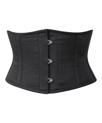 Black Cotton Underbust Corset Waist Shaper