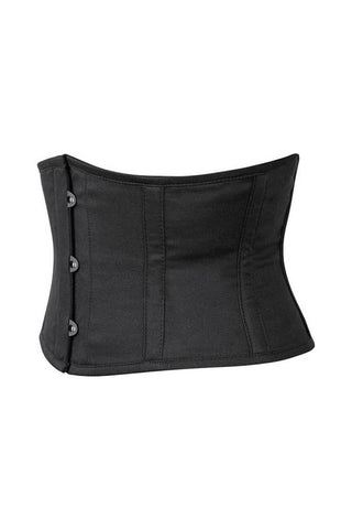 Black Corset Waist Shaper in 100% Cotton