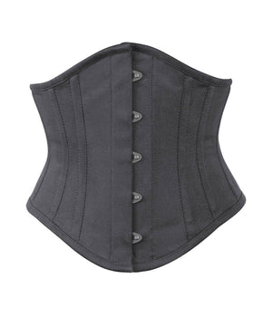 Underbust Black Waist Shaper Corset in 100% Cotton