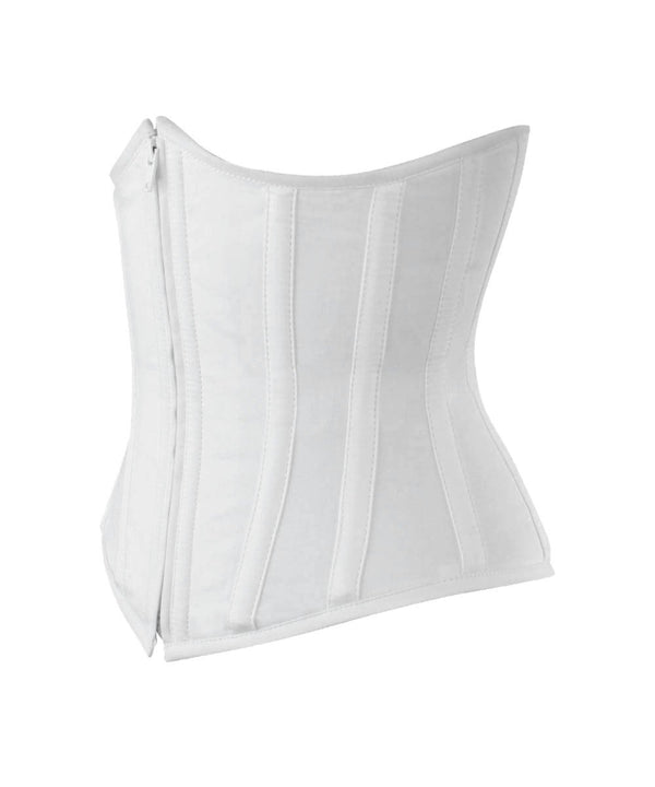 Underbust White Waist Shaper Corset in 100% Cotton