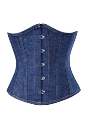 Denim Waist Shaper Corset in 100% Cotton