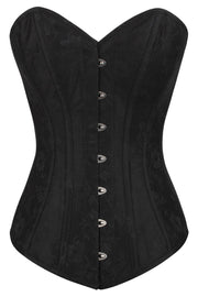 Calix Black Brocade Long Overbust Corset