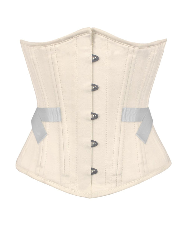 Gwenn Cotton Herringbone Waist Training Corset with Fan Lacing