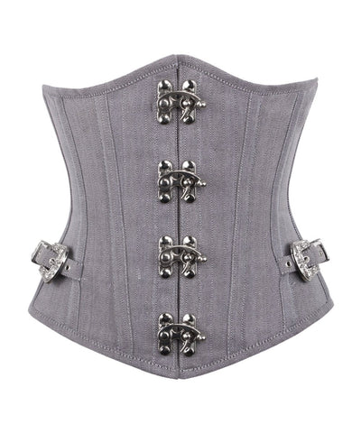 Vintage Goth Brosca Herringbone Underbust Corset with Clasp Opening - VG LONDON LTD Corsets and Bustiers Shop