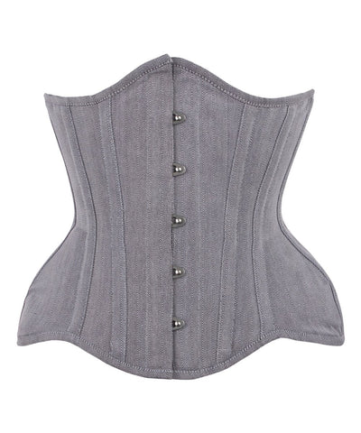 Vintage Goth Emelina Underbust Herringbone Curvy Corset - VG LONDON LTD Corsets and Bustiers Shop