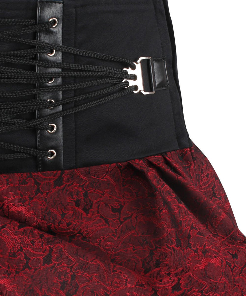Elgin Gothic Maroon Brocade Skirt