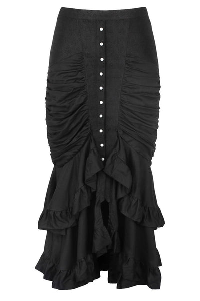 Bera Custom Made Black Gothic Bustle Skirt