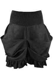 Gytha Custom Made Gothic Black Brocade Skirt