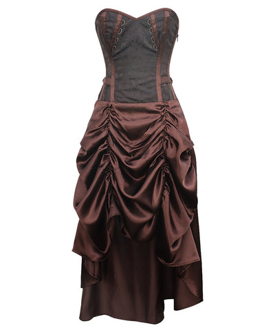 Elsbeth Steampunk Corset Dress for Waist Training & Posture Correction