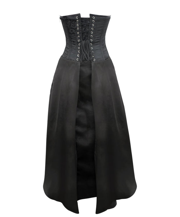 SOLD OUT - Gilda Gothic Black Corset Dress for Waist Training & Posture Correction