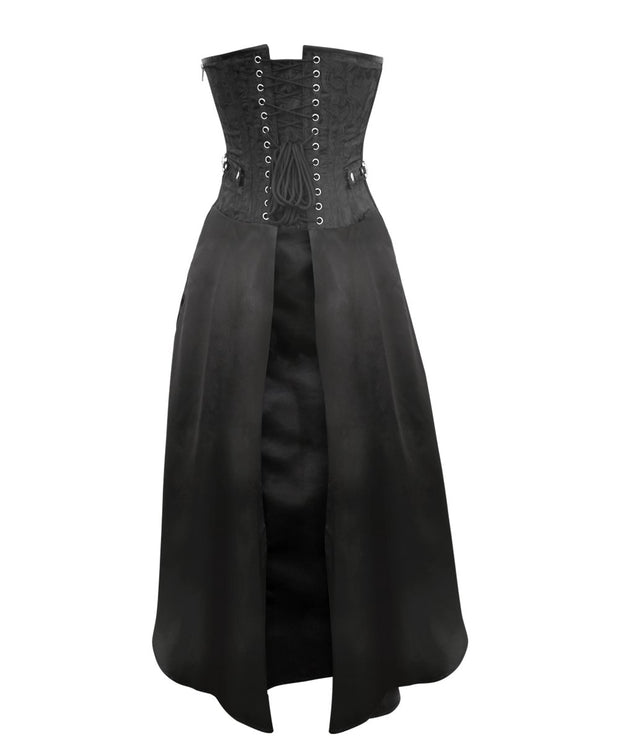 SOLD OUT - Larina Black Gothic Corset Dress for Waist Training & Posture Correction