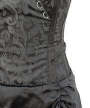Larina Black Gothic Corset Dress for Waist Training & Posture Correction