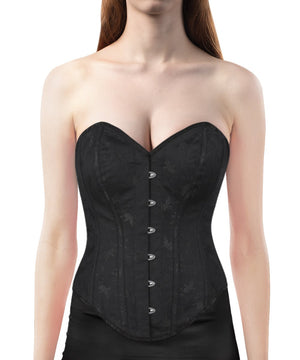 Instant Shape Brocade Corset with Curved Hem