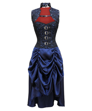 Caffaria Corset Dress with Gathered Skirt and Shrug