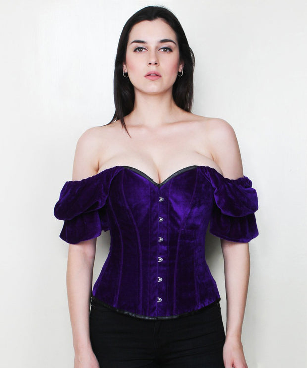 SOLD OUT - Aaira Classic Velvet Overbust Corset