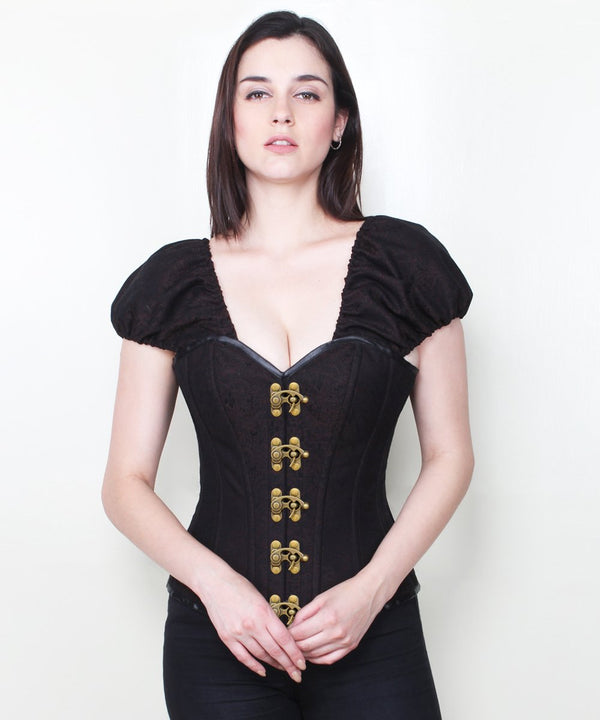 Anayah Steampunk Brocade Corset with Clasp Opening