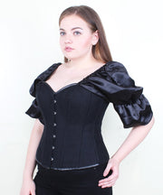 Liah Black Brocade Gothic Overbust Corset