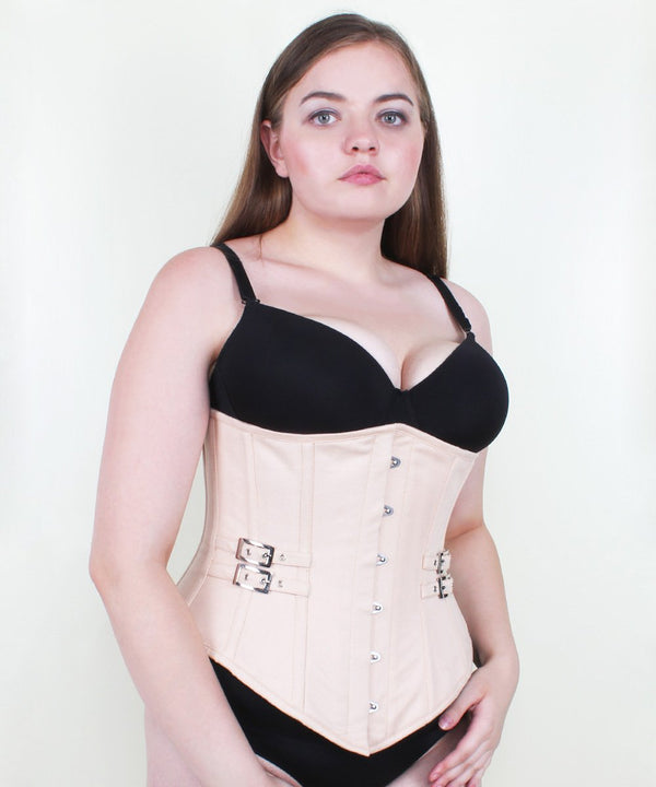 Cambrie Cotton Herringbone Underbust Corset