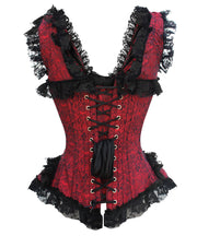 SOLD OUT - Dottie Victorian Inspired Overbust Brocade Corset