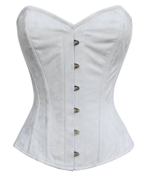 Dale White Brocade Overbust Corset