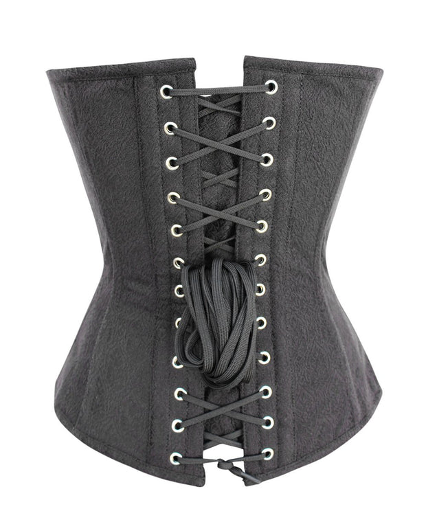 SOLD OUT - Ouida Black Brocade Overbust Corset