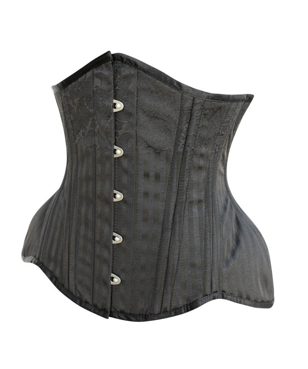 SOLD OUT - Padget Black Brocade Curvy Waist Training Corset