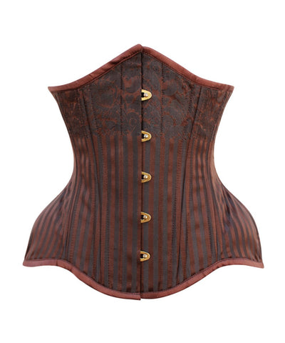 Curvy Waist Training Steampunk Brown Corset