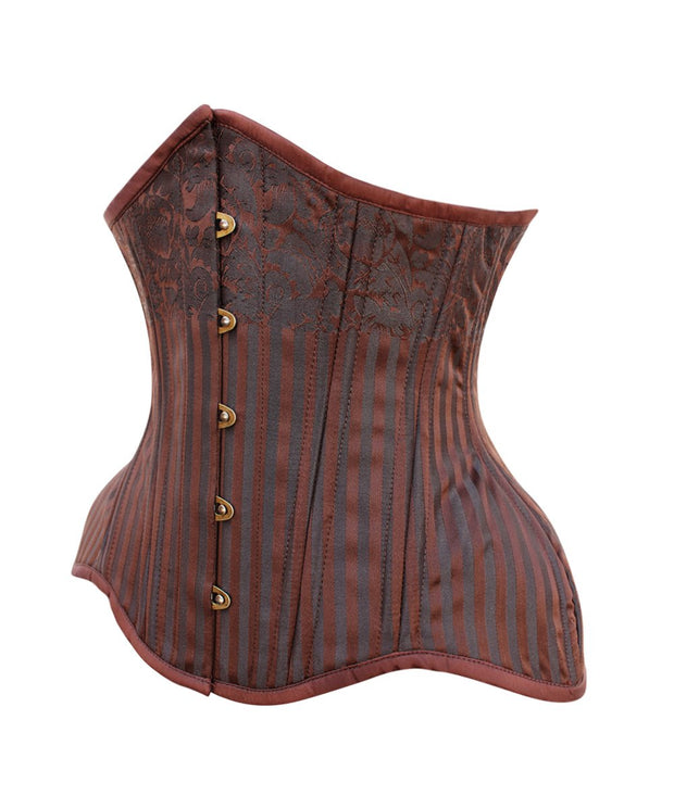 SOLD OUT - Curvy Waist Training Steampunk Brown Corset