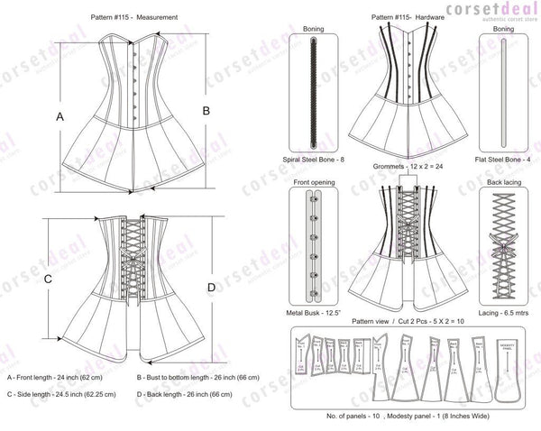 Izzie Gothic Corset Dress