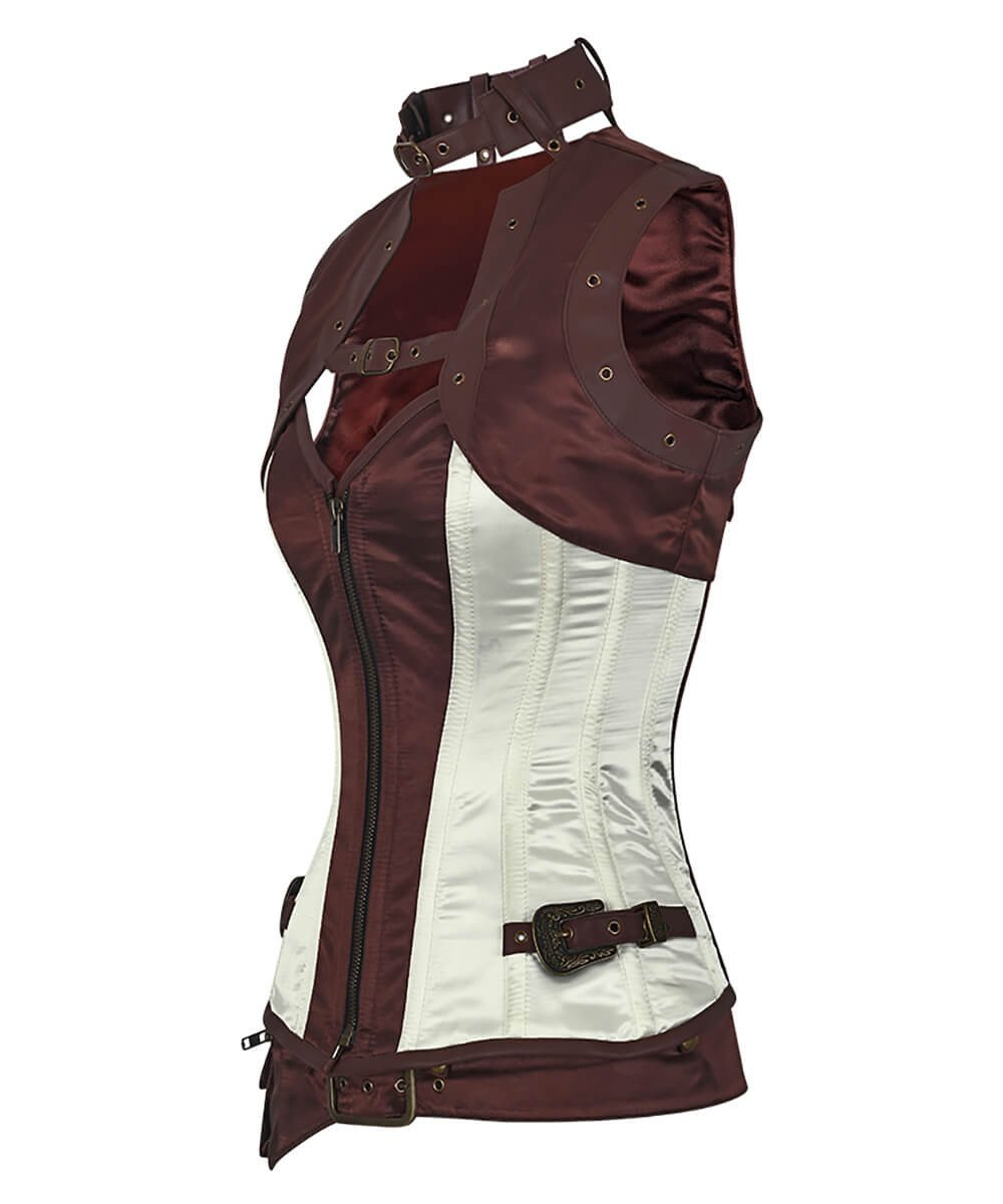 Phoenice Steampunk Overbust Corset with Shrug