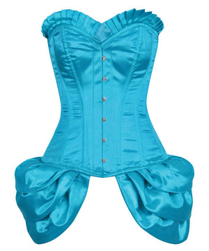 Valari Overbust Burlesque Fashion Corset with Frill