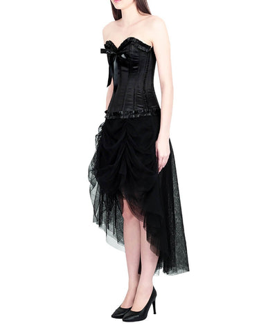 Emelia Burlesque Black Tulle Corset Dress