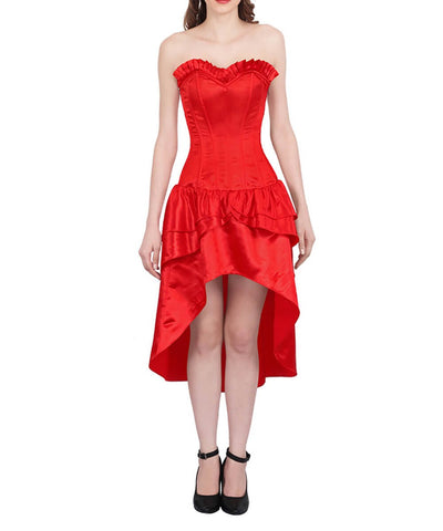 Maricia Burlesque Red Mullet Corset Dress