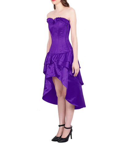 Horae Burlesque Purple Mullet Corset Dress