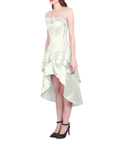 Margita Burlesque Ivory Mullet Corset Dress