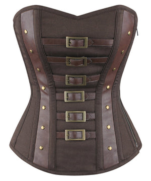 Gilgal Overbust Steampunk Cotton Corset