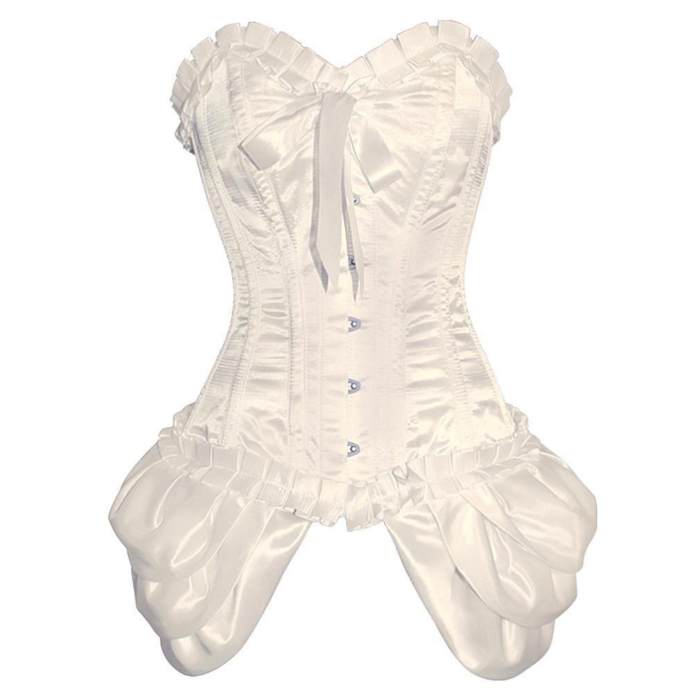Ocran Ivory Burlesque Fashion Corset