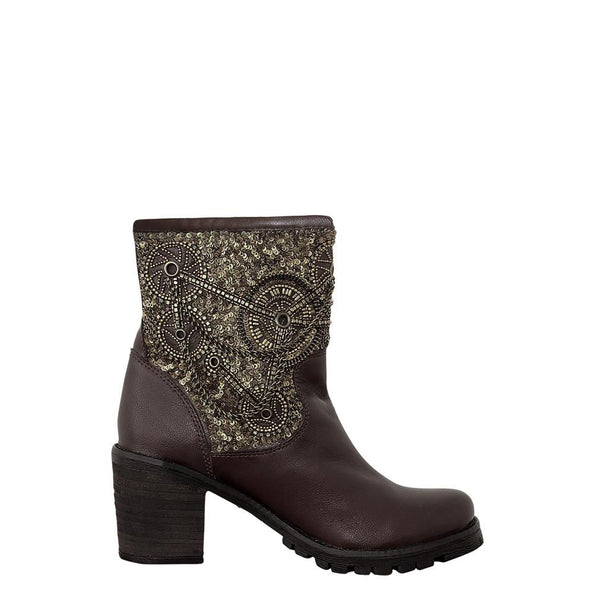 Gordain Genuine Sheep Napa Leather Steampunk Boot