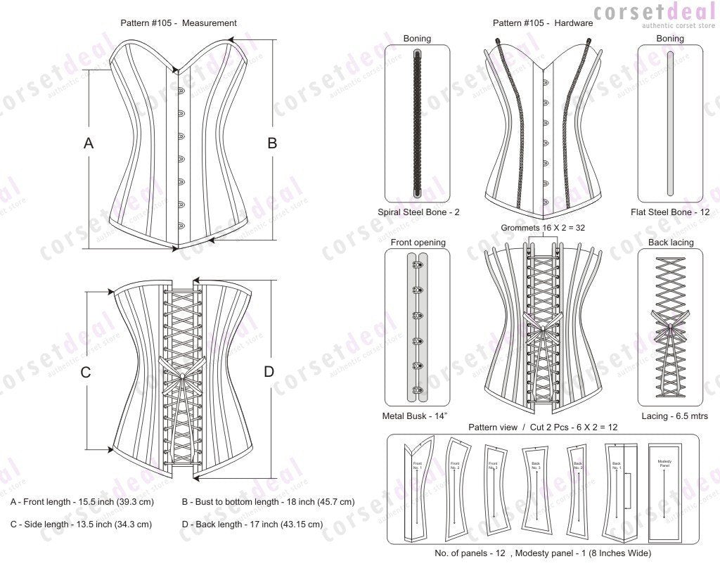 Roanne Overbust Corset