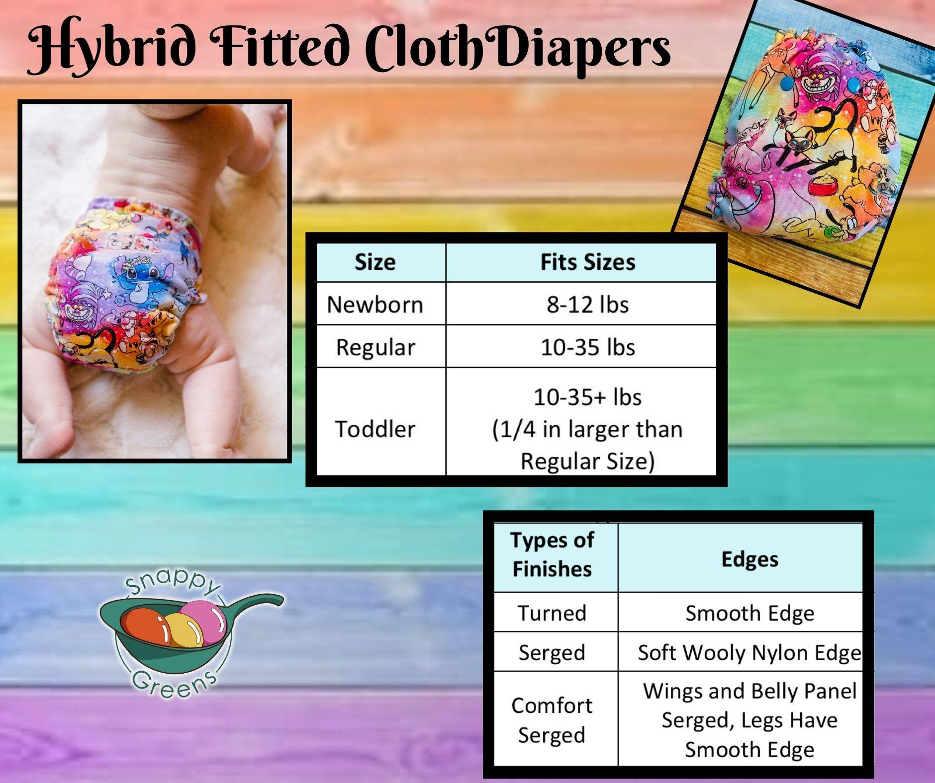 Fleece Hybrid Fitted Cloth Diaper - Mermaid Constellations Fleece