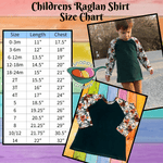 Raglan Tee Shirt - American Tie Dye Cotton Lycra, Multiple Sizes Available