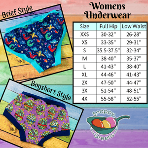 Women's Underwear, Multiple Prints & Sizes Available