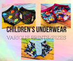 Kids Underwear - XLarge (Size 6) - Various Prints *Ships by June 30th*