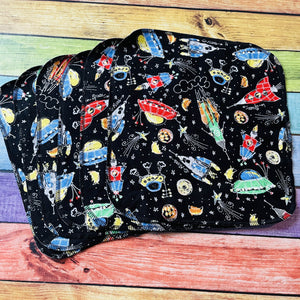 Open image in slideshow, Spaceships - Unpaper Towels (Set of 6) and Wipes (each)