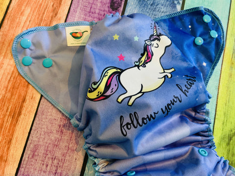 Follow your Heart PUL Pocket Diaper, Serged