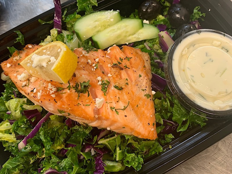 Mediterranean Salmon Bowl *Low Carb*