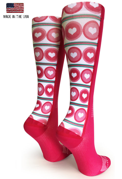 Pink OTC Dots & Hearts - CrazyCompression.com