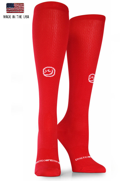 Red OTC Solid - CrazyCompression.com