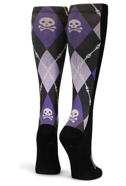 Black Purple Argyle Skulls - CrazyCompression.com